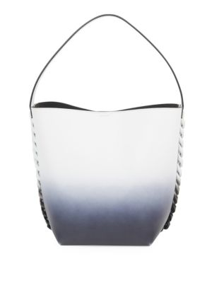 Infinity Leather Bucket Bag