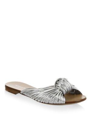Serena Leather Slides
