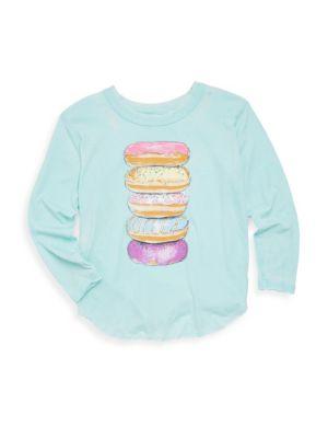 Toddler's, Little Girl's & Girl's Stacked Doughnuts Tee