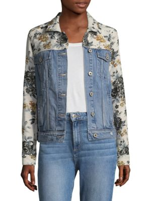 Harrison Floral & Denim Jacket