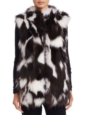 Sectioned Fox Fur Vest