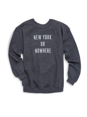 Toddler's, Little Girl's, & Girl's New York Or Nowhere Sweatshirt
