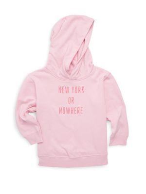 Toddler's, Little Girl's & Girl's New York or Nowhere Hoodie