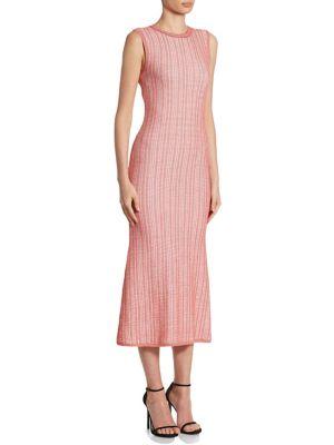 Striped Crewneck Midi Dress