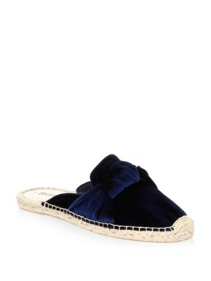 KNOTTED VELVET LOAFER MULE
