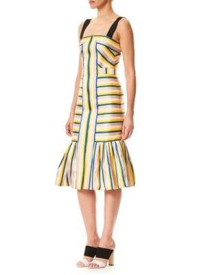 Striped Tulip Tank Dress