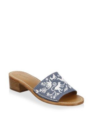 Otomi Denim Slides