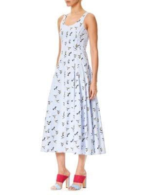 Printed Scoopneck Dress