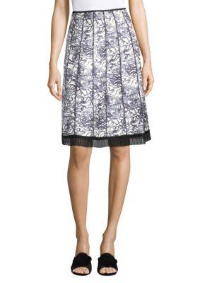 Gored Printed Skirt