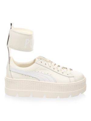 FENTY Leather Ankle-Strap Sneakers