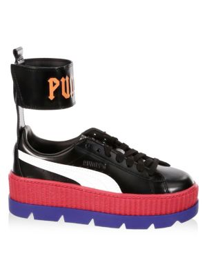 FENTY Leather Ankle-Strap Sneakers 0400096150278