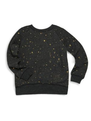 Toddler's, Little Girl's & Girl's Stellar Print Vintage Sweatshirt