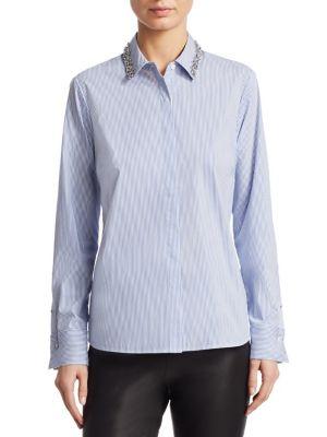 Embellished Collar Poplin Shirt