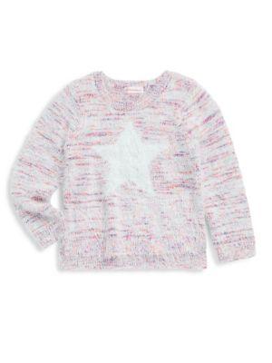 Toddler's, Little Girl's & Girl's Brushed Star Sweater