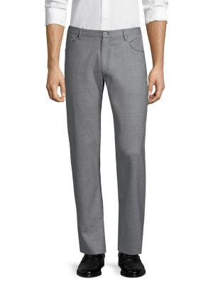 Cargo Pocket Wool Trousers