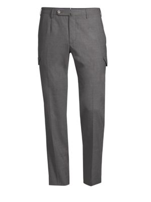 Easy-Fit Travel Cargo Wool Pants