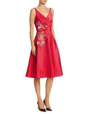Borgeois Silk Floral Dress