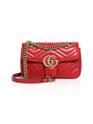 fcef82d7149 Gucci Gg Marmont 2.0 Mini Matelass Eacute  Shoulder Bag In Red ...