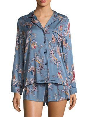 Two-Piece Paisley Tapestry Pajama Set