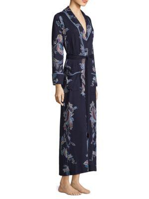 JONQUIL Paisley Self-Tie Robe