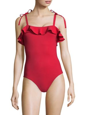 KARLA COLLETTO SWIM Ruffle Trim One-Piece
