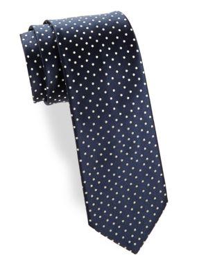 Medium Dot Silk Narrow Tie