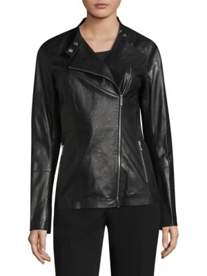 Preseley Leather Moto Jacket