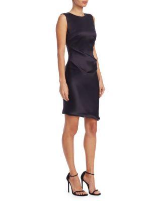 Silk Satin Ruched Dress
