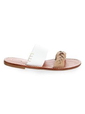Braided Leather Slides