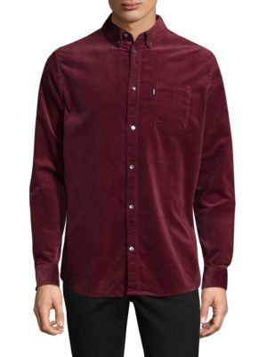 WESC Vance Corduroy Casual Button-Down Shirt