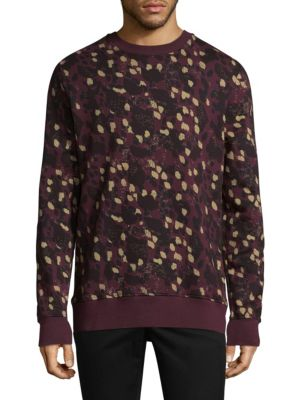 WESC Miles Animal-Print Cotton Sweatshirt
