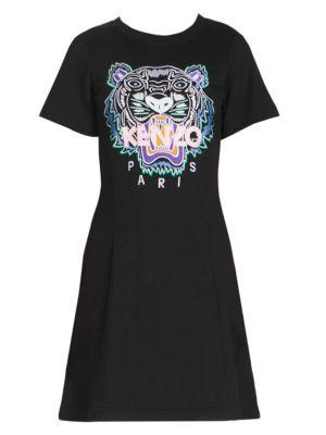 Tiger Flare Summer T-Shirt Dress