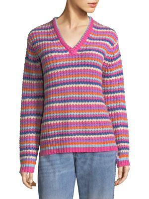 Stripe Cashmere Knit Sweater