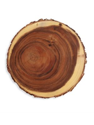 Slice Wood Charger Plate