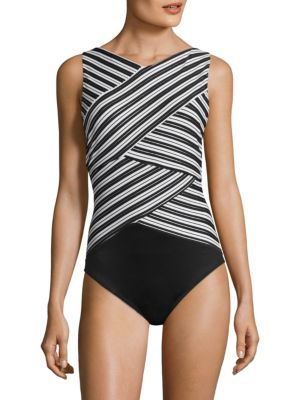 MIRACLESUIT SWIM Mayan Stripe Brio One-Piece Swimsuit