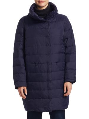 Stand Collar Down-Filled Coat