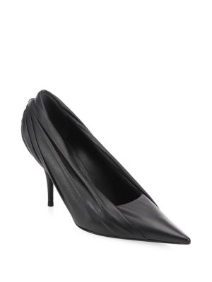 Draped Leather Pump
