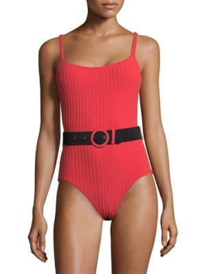 Nina Belted One-Piece Swimsuit