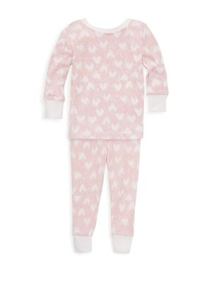 Baby's & Toddler's Heart Print Pajama Set