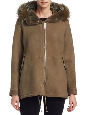 Shearling Fox Fur Jacket