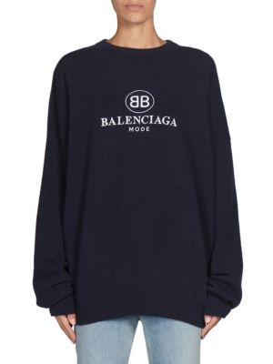 Wool & Cashmere Logo Sweater