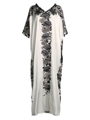 Illusion Square Silk Caftan