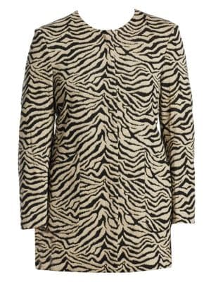 Tiger Snap-Button Coat