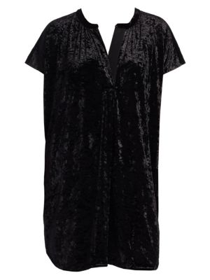 Plus Crushed Velvet Relaxed Tunic