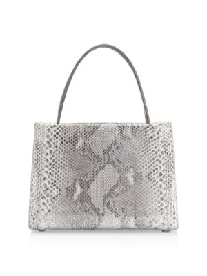 Medium Wallis Python Top Handle Bag