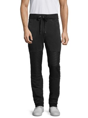 Slim-Fit Moto Sweatpants