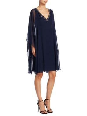 REEM ACRA Embellished Caftan Dress