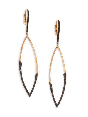 ETHO MARIA My Etho 18K Rose Gold Black 0.61 TCW Diamond Drop Earrings