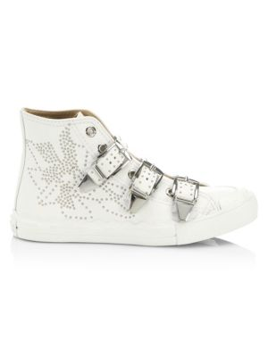 Kyle High Top Leather Sneakers by Chloé
