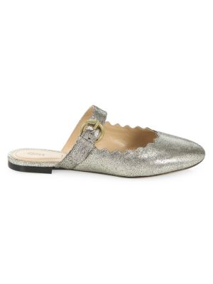 Lauren Metallic Leather Mules